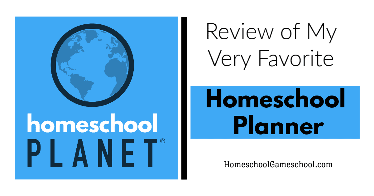 Homeschool Planner, Homeschool Planet Review - Gameschooling @ HomeschoolGameschool.com