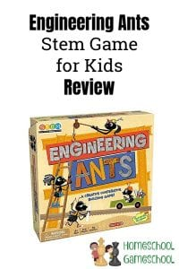 Engineering Ants Review, STEM games for kids. Gameschooling & secular homeschooling @ HomeschoolGameschool.com
