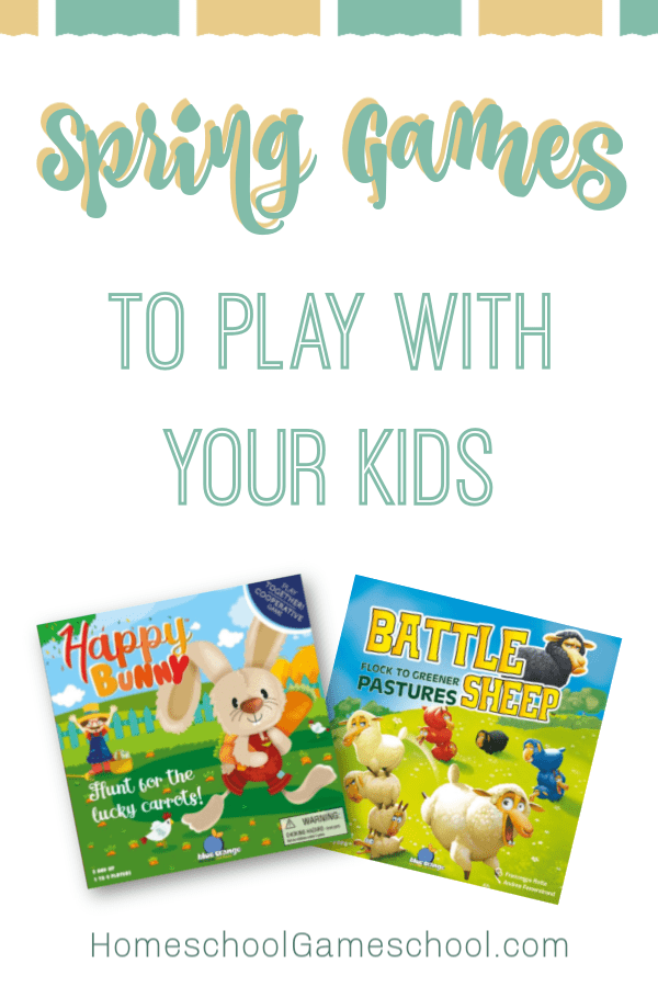 Spring Games to Play with Your Kids - Gameschooling & Secular Homeschooling @ HomeschoolGameschool.com
