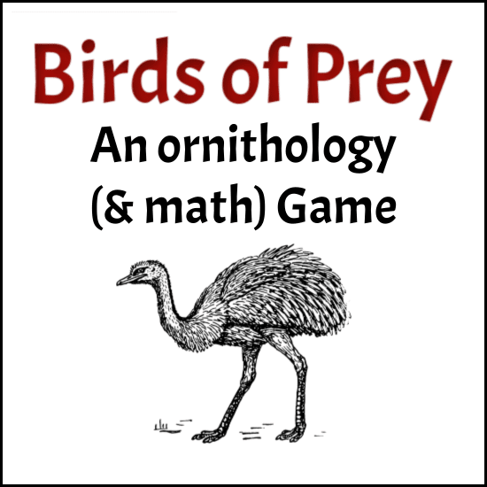 Learn about birds and practice math with the Birds of Prey printable game