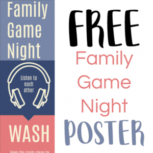 Free Printable Family Game Night Etiquette Poster - Gameschooling, Educational Game Reviews, and Secular Homeschooling @ Homeschoolgameschool.com