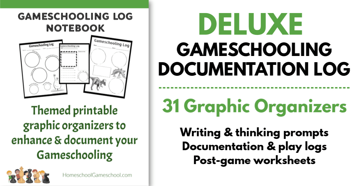 Gameschooling documentationg log - document your educational gaming & make any game educational