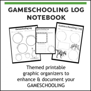 Make any game educational and documental playing educational games with the Deluxe Gameschooling Log