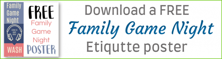 Free Printable Family Game Night Etiquette Poster