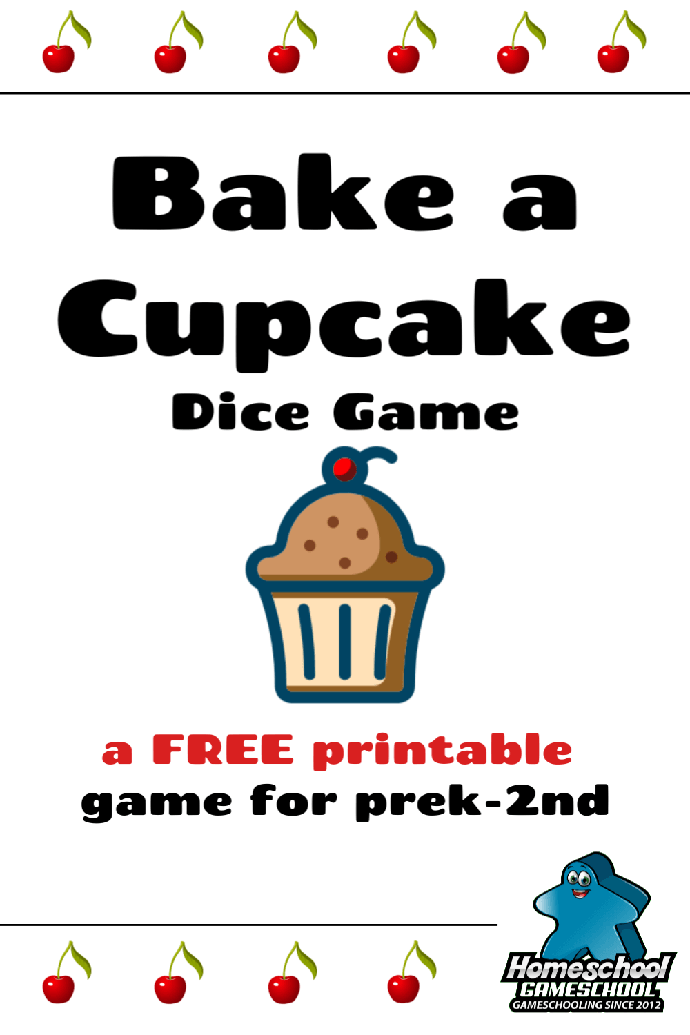 Bake a Cupcake Dice Game