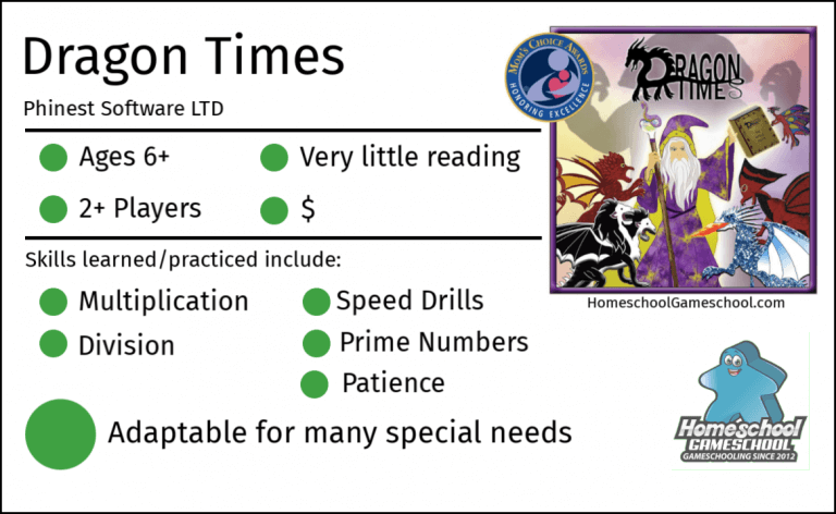 Dragon Times Multiplication game review