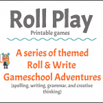 Roll Play, printable Roll & Write games for kids