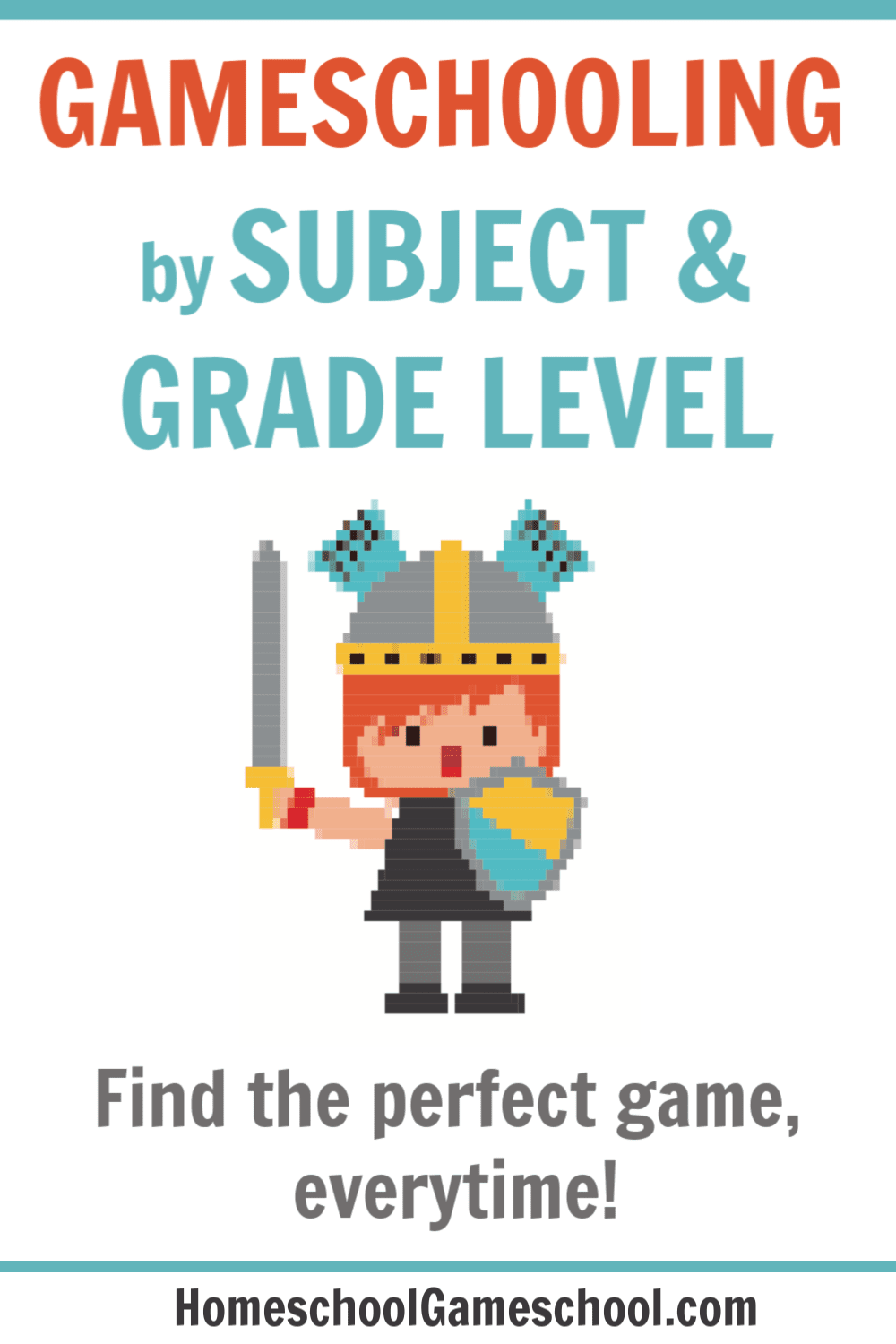 Gameschooling by subject and age
