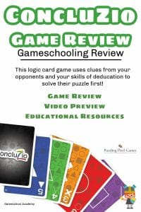 Concluzio Game Review, Gameschooling @ Gameschool Academy